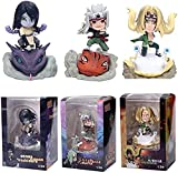 3 Piezas Anime Naruto Shippuden Gama Sennin Ero-Sennin Jiraya Gamabunta Orochimaru Tsunade PVC Figurine Modelo Coleccionable Muñeca Muñeca