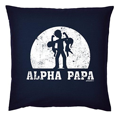 Art & Détail T-shirt Coussin : Papa Dad Père Jour Alpha Papa – Comme Présent