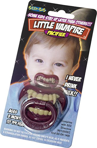 Billy Bob Pacifiers, grappige fopspenen Kleine vampiers. OS rood, wit, zwart