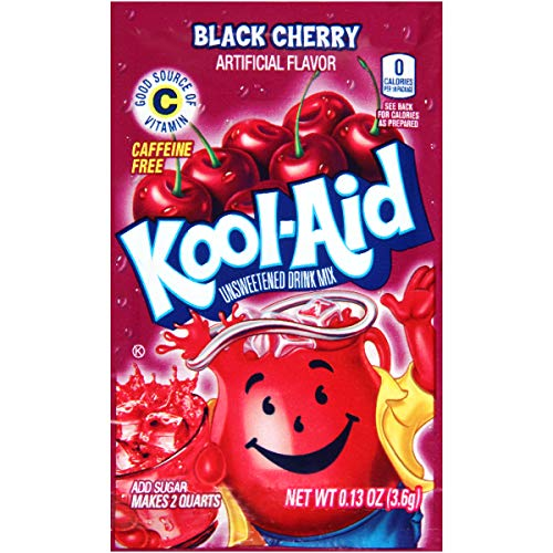 Kool-Aid Black Cherry Flavored Unsweetened Caffeine Free Powdered Drink Mix (96 Packets)