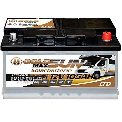 Solar Batterie 105Ah 12V GoldMax Versorger Wohnmobil Verbraucher Solarbatterie 100Ah