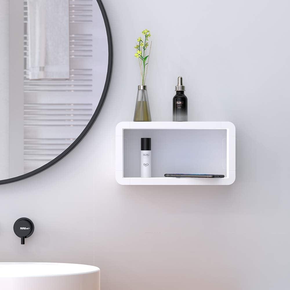 KUNGYO Rechteck Wandmontage Schwimmendes Regal   Weiß Kunststoff ...