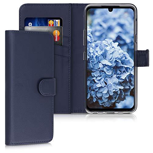 kwmobile Hülle kompatibel mit LG G8X ThinQ - Kunstleder Wallet Hülle mit Kartenfächern Stand in Dunkelblau