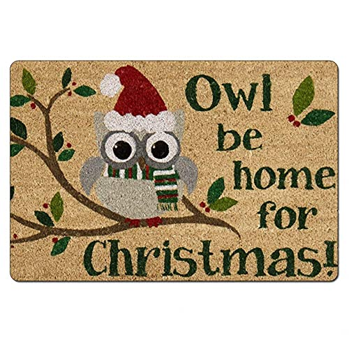 N/A Door Mat Grey Rug Bath Mat Area Rugs Durable Door Mat For Indoor Christmas Owl Garage Patio High Traffic Areas Home Room Decor 20'x32'