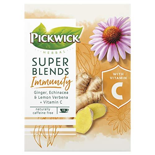 Pickwick Super Blends Immunity Kruidenthee met Gember, Echinacea en Citroenverbena, Bevat Vitamine C (60 Theezakjes…