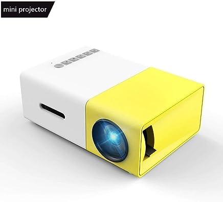 Mini Proyector, Meer Proyector Portable de Bolsillo con la entrada de USB/SD/AV/HDMI para el interfaz Teléfono Inteligente/TV/Películas/Juegos