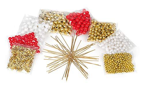 VBS 10 Perlen-Sterne Bastelset Weihnachtsdekoration Weihnachten Basteln