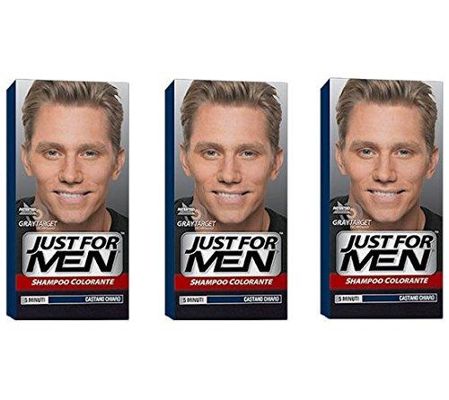 JUST FOR MEN Shampoo Colorante Castano Chiaro Naturale