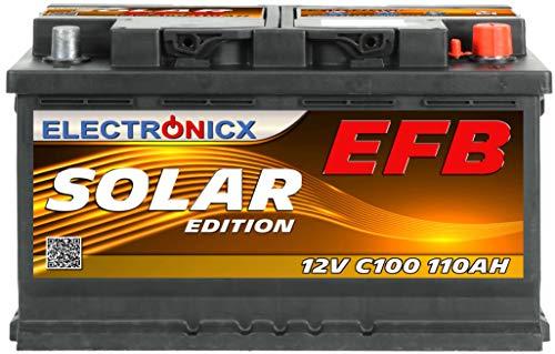 Electronicx Batería solar EFB 12 V C100 110 Ah
