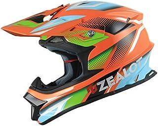 ZEALOT(ジーロット) MadJumper(マッドジャンパー) ヘルメット L(59-60cm) ORANGE/BLUE MJ0013/L
