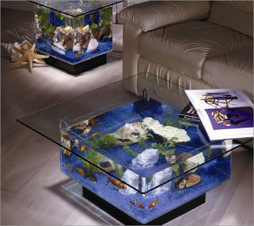 Midwest Tropical Fountain 25 Gallon Aqua Coffee Table Aquarium Tank (Misc.)