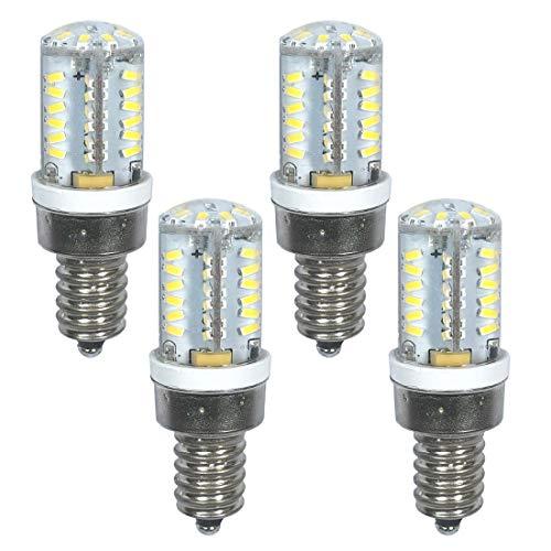 Bombilla LED de 2 W, E12, 12 V, 24 V, luz blanca cálida, 3000 K, para puerta de garaje, repuesto de 200 lm, 20 W, bombilla halógena no regulable (E12 12 V/24 V, 4 unidades)