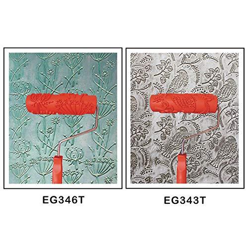 2 Stück DIY Geprägte Malerrolle Strukturwalze Malerwalze mit Muster