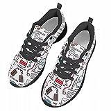 chaqlin Zapatos de correr para mujer para gimnasio de deporte al aire libre, zapatos de trabajo casuales, color Blanco, talla 37 EU