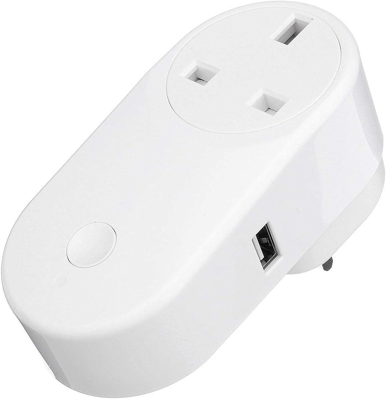 90V250V Smart WiFi Socket UK Plug Panel LED Lights Switch Compatible with Alexa Home  Tools & Home Improvement Switches & Sockets  1 x Smart WiFi Socket, 1 x Manual