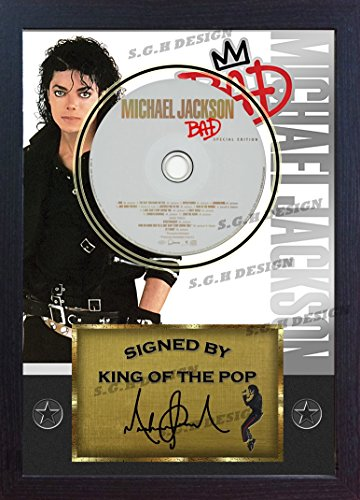Michael Jackson firmada foto enmarcada y