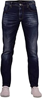 Crosshatch Mens Ripped Slim Fit Jeans Stretch Jeans Rip Distressed Denim Pants Trousers