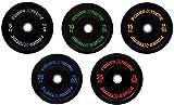 POWER-XTREME Hantelscheibe, Bumper Plate, 50mm, Gummigranulat, farblich codiert, Studioqualität...
