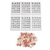 TOYANDONA Juego de Lotto Ruso Juego de Mesa Familiar Cartas de Loteria Juguetes de Bingo Chips