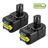 <span class='highlight'><span class='highlight'>Boetpcr</span></span> 2X P108 18V 5.0Ah Battery Replacement for Ryobi Battery ONE  P108 P102 P104 P105 P103 P107 P109