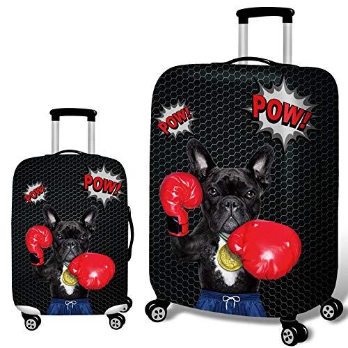 Elastisch Kofferhülle mit Reißverschluss 18-32 Zoll Boxer Bulldogge Luggage Cover Reisekoffer Hülle Kofferschutzhülle Gepäck Cover Kofferbezug Koffer Hülle Kofferschutz F1 XL-29-32