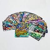 100 Poke Cards Ultra Rare TCG Style Card Holo EX Full Art:20 GX+20 Mega+1 Energy+59 EX Arts