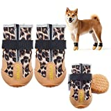 Dog Shoes for Hot Pavement,Dogs Boots Heat Protection Paw Dog Booties Breathable Nonslip Waterproof with Adjustable and Reflective Straps,Dog Paw Protection for Small, Medium, Large Dogs 4PCS/Set