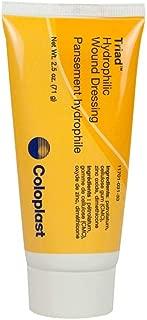 Coloplast Triad Hydrophilic Paste Wound Dressing 2-1/2Oz, Zinc oxide Based, Sterile, Latex-free (1 Tube)