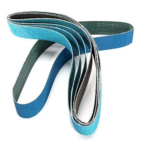RWJFH Cinturón de arena 5 piezas nuevas bandas de lijado de pulido de grano mixto de 915 mm * 50 mm Zirconia 40# 60# 80# 120#