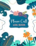 Phone Call Log Book: Phone Call & Voicemail Recording Notebook, Simple Phone Call Message Tracker, Telephone Memo Log, Notepad Teachers Receptionist ... in Business - Great Office Desk Supplies