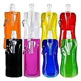 WeyTy Faltbare Wasserflasche mit Karabiner, Wiederverwendbare...