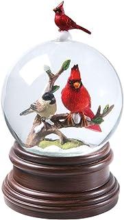 Best CATALOG CLASSICS Cardinal & Chickadee Winter Birds Musical Snowglobe - Snow Globe Plays Pachelbel