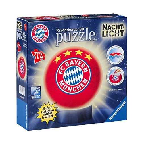 3D Puzzle Nachtlicht Bayern MÜNCHEN kompatibel FCB + Sticker München Forever/FCB