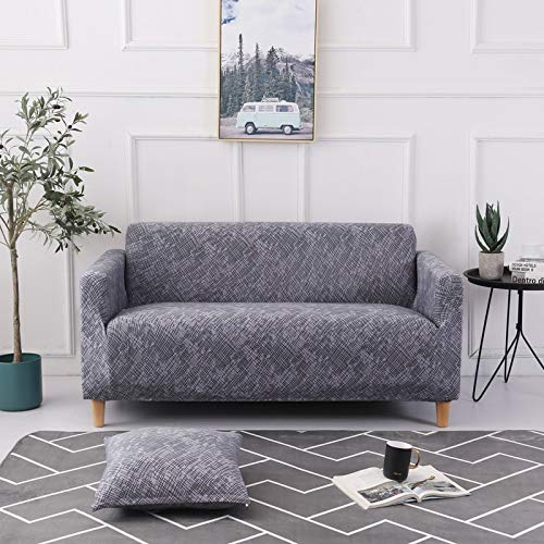 PPMP Funda de sofá elástica elástica para Sala de Estar Fundas universales para sillas Funda de sofá seccional Funda de sillón en Forma de L A19 4 plazas