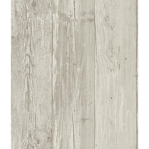York Wallcoverings - Papel pintado (madera), Talla decals, Papel tapiz, Gray/Black/Off-White