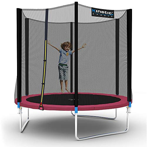 Kinetic Sports Gartentrampolin TPLH08 (Ø 244 cm, pink)