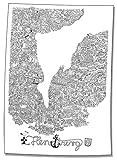 Cartoonlandkarten / Flensbild: Das Flensburger Wimmelbild