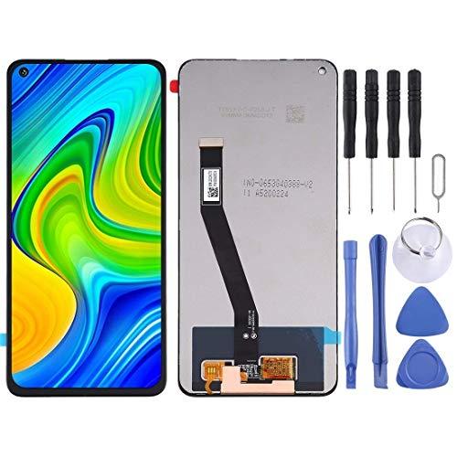 Hencik Pantalla LCD y digitalizador completo para Redmi Note 9 / Redmi 10X 4G (color negro). Accesorios para teléfonos móviles (color negro)