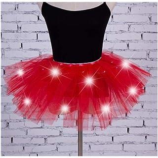96524853c7a Mode féminine Gaze LED Jupe Lumineuse Danse de scène scène Carnaval  Mini-Jupe Robe de