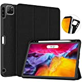 Soke New iPad Pro 11 Case 2020 & 2018 with Pencil Holder - [Full Body Protection + Apple Pencil Charging + Auto Wake/Sleep], Soft TPU Back Cover for 2020 iPad Pro 11 inch(Black)
