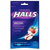 Halls Breezers Drops Cool Creamy Strawberry 25 ea (Pack of 6)