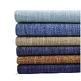 Gali DIY Hecho Mano Tejido de Lino 100% Puro Natural, Tela Suave y Duradera, 150 Cm de Ancho, Adecuado para Fundas de Sofá, Cojines, Bolsos, Textiles para el Hogar, Bricolaje (Color : 16)