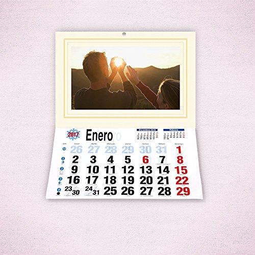FOTOCENTER Calendarios Personalizados faldilla 32 x 44 cm - Imprime tu Pack de 2 calendarios idénticos.