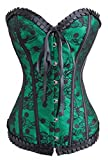 Alivila.Y Fashion Womens Sexy Vintage Gothic Dotted Corset Bustier 2043-Green-L...
