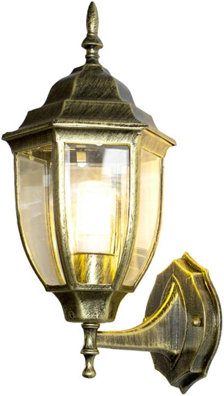Ehime Auenwandleuchten Anti-Rost und Antikorrosionslampe LED-Wandlampe der Auenwandlampe Retro- Gartenlampe kreative Gang im Freien, 36.5  20  16.5cm