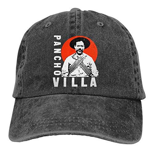 Kellysteion Pancho Villa Unisex Adult Adjustable Denim Baseball Hat Novelty Cap Dad Cap Casquette