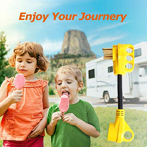 """EPICORD RV Power Cord Dogbone RV Power Adapter with Handle 50A Male to 30A Female 12"""" 10AWG/3 Cord"""