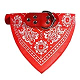 Collar de bandana para perros, cachorros o gatos, ajustable, Rojo, Medium