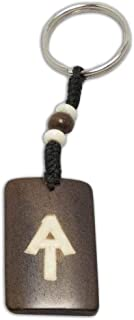 Zen Canyon Large Hand Carved Yak Bone Hiking Key Chain Ring - Eco-Friendly Fair Trade