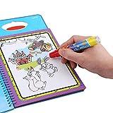 【𝐆𝐞𝐬𝐜𝐡𝐞𝐧𝐤】 Wasser-Farbton Doodler tragbares Reißbrett, Baby-Kinderwasser-Zeichnungs-Buch-Malerei-Brett mit dem Stift, der die Spielwaren wiederverwendbar lernt(Tiermuster) -